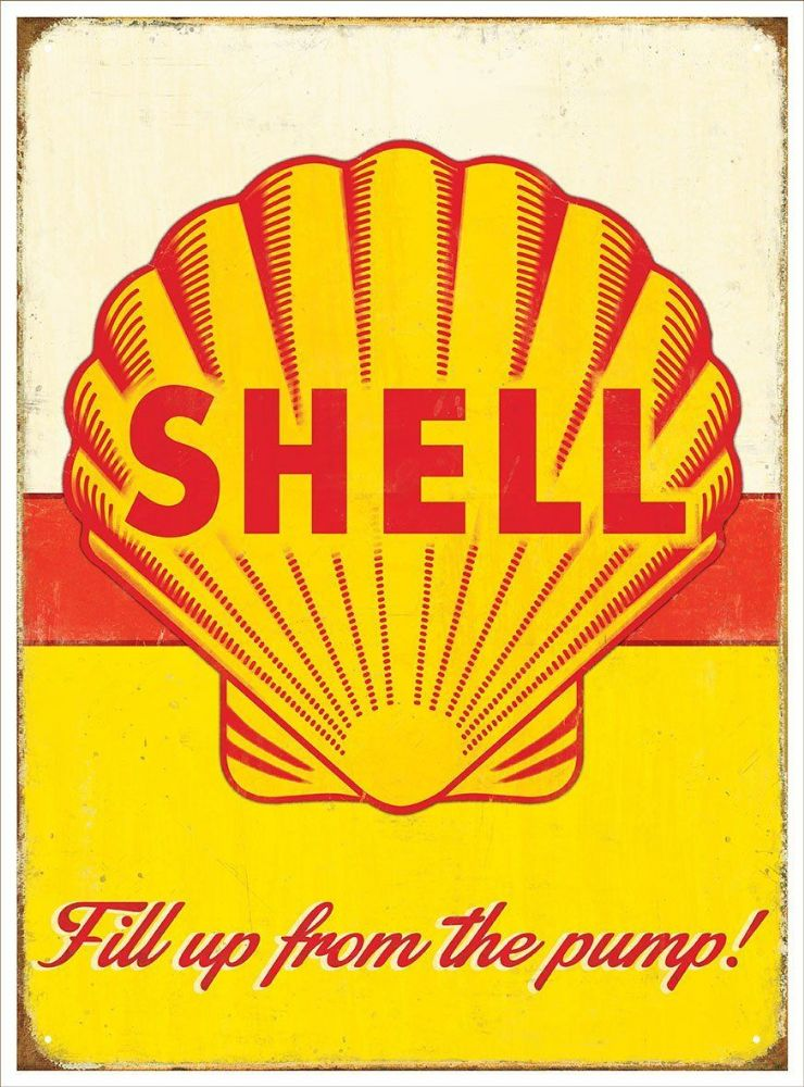 Shell Oil Metal Wall Sign